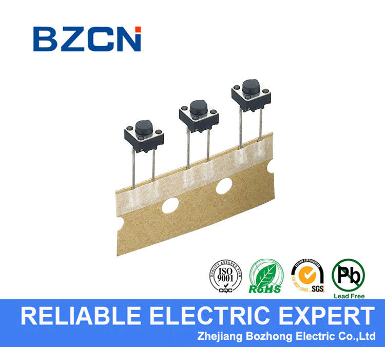 Round Long Foot PCB Tactile Switch , Momentary Push Button Switch 12 V