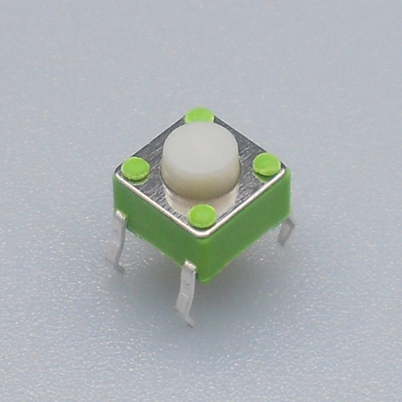 Momentary 6mm Tactile Switch / Silent Push Button With White Push Button​