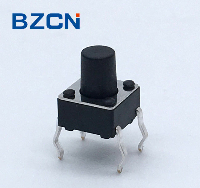 6 X 6 X 6 Mm Momentary SPST Tactile Switch , Miniature Push Button Switch