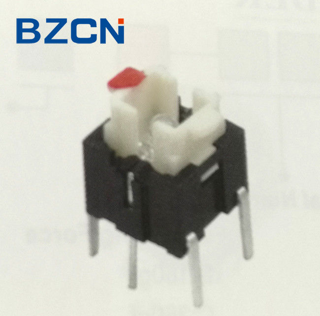 6X6 Mm Size Illuminated Push Button Switch , Momentary Tactile Switch Without Cap